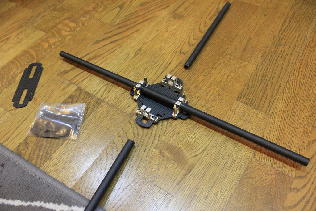 Carbon fiber frame of the quadcopter