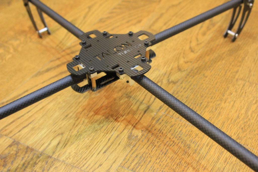 Assembled quadcopter frame