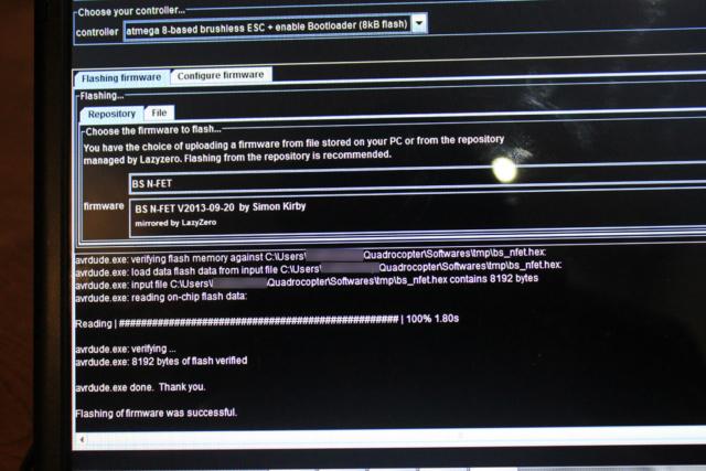 ESC firmware upgrade for better performance