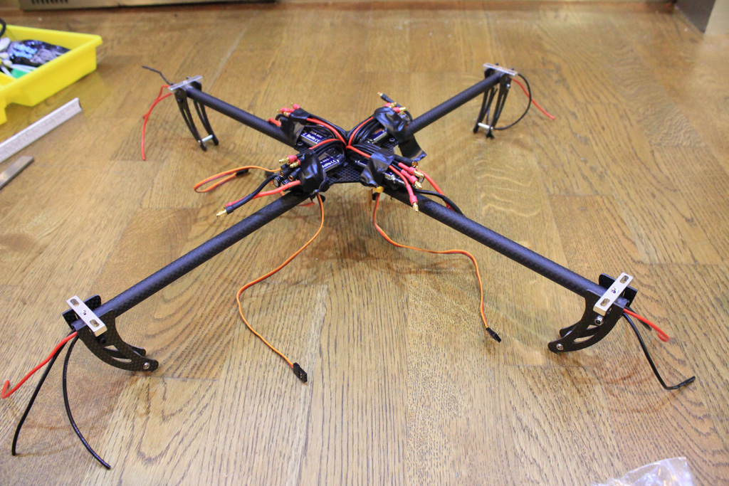 Complete frame with the wiring