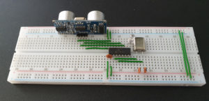 PIC16F630 & HC-SR04 on Prototype Board