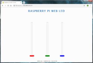 Raspberry Pi Web LED Welcome Page