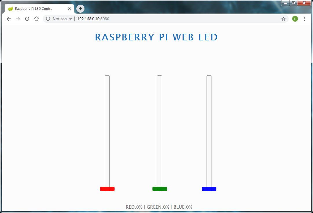 Raspberry Pi Web LED Welcome Page