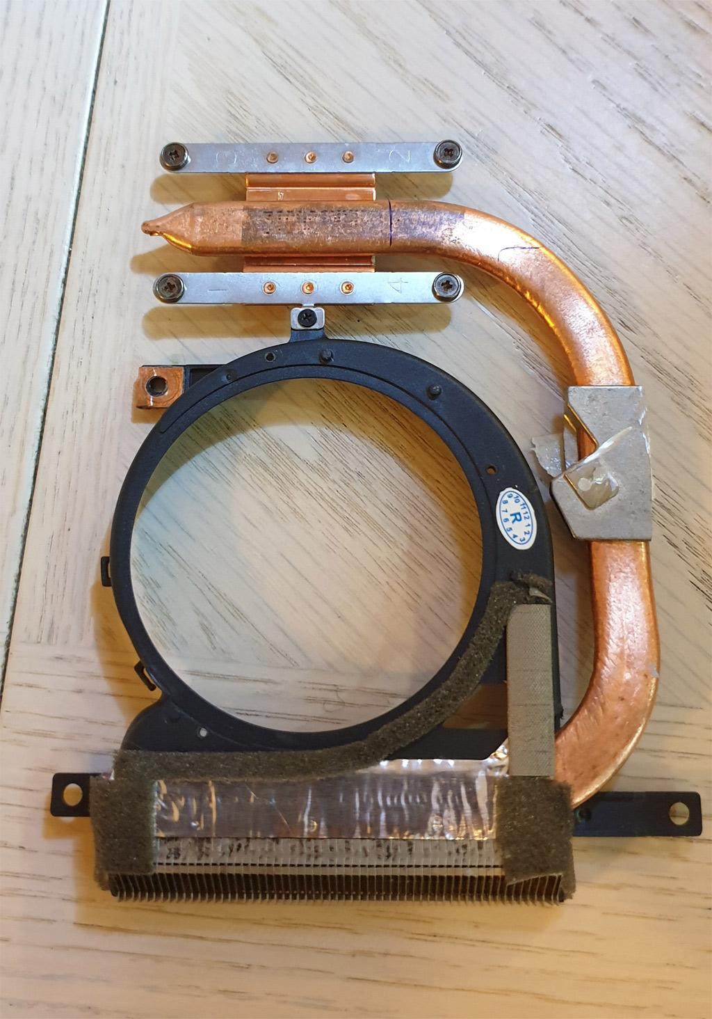 Original Adhesive Tape Put Back On The Heatsink