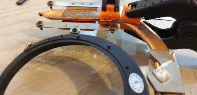 Clamped Plate While The Adhesive Sets
