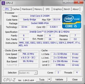 CPU-Z Intel Core i5-2430M