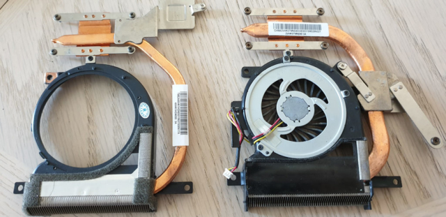 Sony VAIO Heatsink Comparison