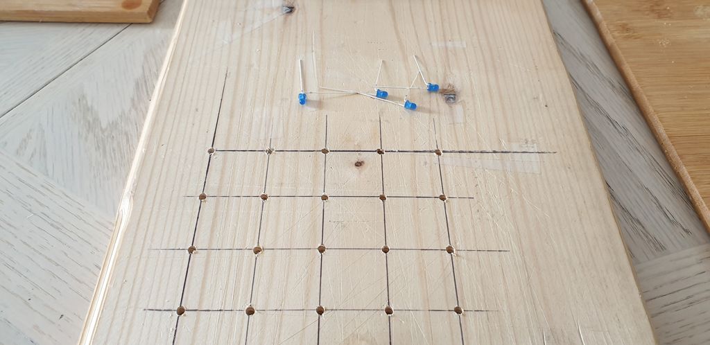 4x4 LED Matrix Wooden Template